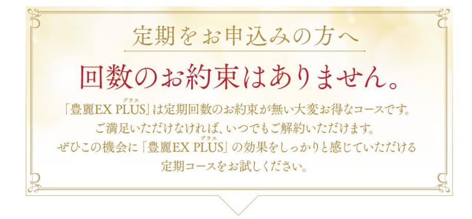 豊麗EXPLUS(プラス) 定期コース